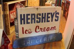 1950s Double Sided Hersheys Ice Cream Sign - 689091