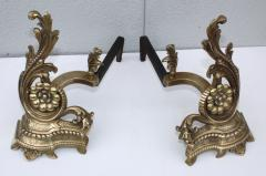 1950s French Brass Andirons - 1121151