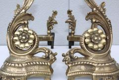 1950s French Brass Andirons - 1121154