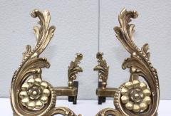 1950s French Brass Andirons - 1121155