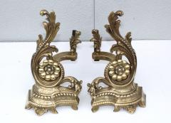 1950s French Brass Andirons - 1121156
