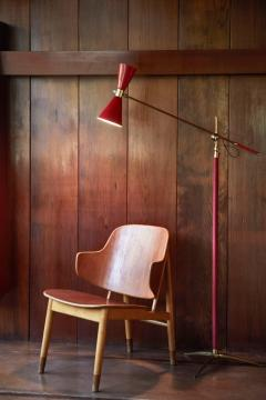 1950s French Red Articulating Floor Lamp - 1031765
