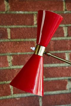 1950s French Red Articulating Floor Lamp - 1031766