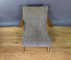 1950s French Scissor Leg Upholstered Lounge Chair - 1777942