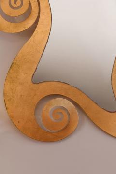 1950s French gilded swirl mirror - 833936