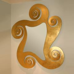 1950s French gilded swirl mirror - 833944