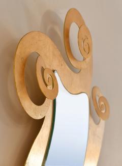 1950s French gilded swirl mirror - 833945