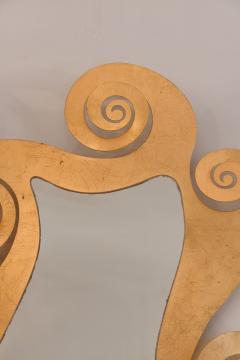1950s French gilded swirl mirror - 833946