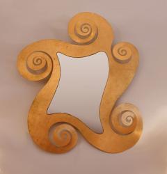 1950s French gilded swirl mirror - 833947