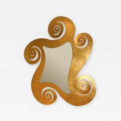 1950s French gilded swirl mirror - 839626