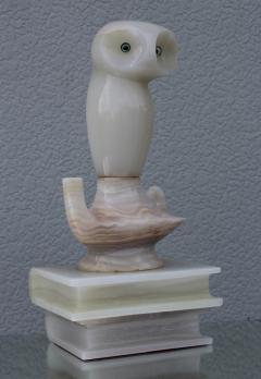 1950s Italian Alabaster Owl Sculpture - 768018