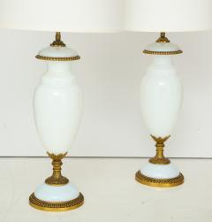 1950s Italian Brass Ang Glass Table Lamps - 1079888