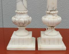 1950s Italian Carrara Marble Table Lamps - 2132137