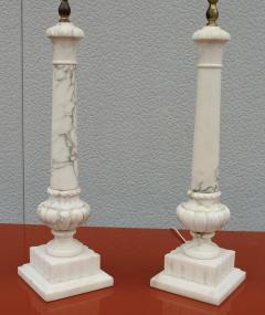 1950s Italian Carrara Marble Table Lamps - 2132139