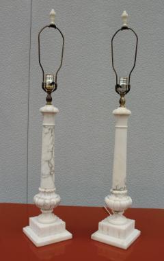 1950s Italian Carrara Marble Table Lamps - 2132140