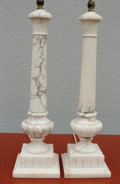 1950s Italian Carrara Marble Table Lamps - 2132141