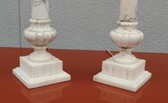 1950s Italian Carrara Marble Table Lamps - 2132144