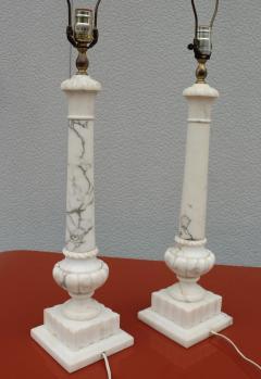 1950s Italian Carrara Marble Table Lamps - 2132145