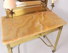 1950s Italian Marble and Brass Dressing Table - 685083