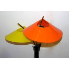 1950s Italian Pair of Whimsical Orange and Yellow Sconces - 951114