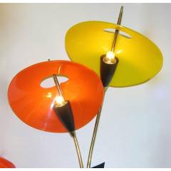 1950s Italian Pair of Whimsical Orange and Yellow Sconces - 951118