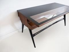 1950s Italian Wood and Lacquered Wood Writing Desk - 1582775