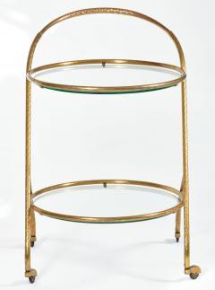 1950s Italian brass circular drinks trolley - 1281371