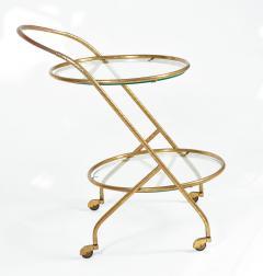 1950s Italian brass circular drinks trolley - 1281373