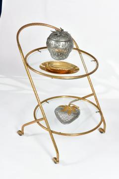 1950s Italian brass circular drinks trolley - 1281438