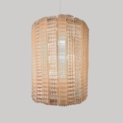 1950s Italian pink glass chandelier - 1219422