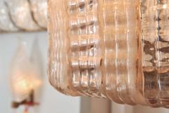 1950s Italian pink glass chandelier - 1219435