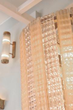 1950s Italian pink glass chandelier - 1219437