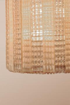 1950s Italian pink glass chandelier - 1219438