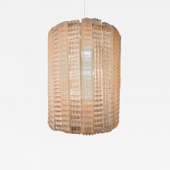1950s Italian pink glass chandelier - 1220441