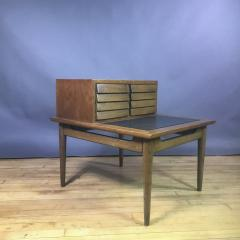 1950s Merton Gershum Walnut Night Stand With Louvered Doors - 1747493