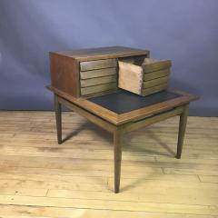 1950s Merton Gershum Walnut Night Stand With Louvered Doors - 1747495