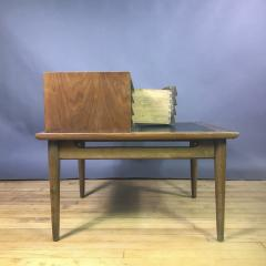 1950s Merton Gershum Walnut Night Stand With Louvered Doors - 1747501