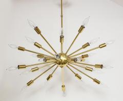 1950s Mid Century Modern 24 Arm Sputnik Brass Chandelier - 1247374