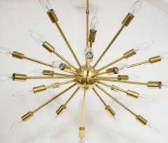1950s Mid Century Modern 24 Arm Sputnik Brass Chandelier - 1247375
