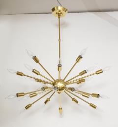 1950s Mid Century Modern 24 Arm Sputnik Brass Chandelier - 1247376
