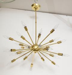 1950s Mid Century Modern 24 Arm Sputnik Brass Chandelier - 1247377