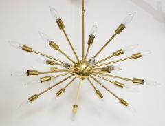 1950s Mid Century Modern 24 Arm Sputnik Brass Chandelier - 1247378
