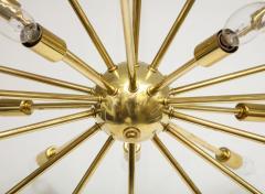 1950s Mid Century Modern 24 Arm Sputnik Brass Chandelier - 1247379