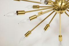 1950s Mid Century Modern 24 Arm Sputnik Brass Chandelier - 1247380