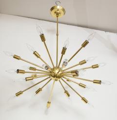 1950s Mid Century Modern 24 Arm Sputnik Brass Chandelier - 1247383