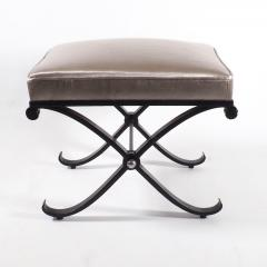 1950s Neo Classical French Enameled Iron X Footstool - 1036420