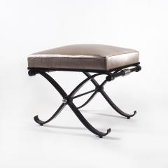 1950s Neo Classical French Enameled Iron X Footstool - 1036437
