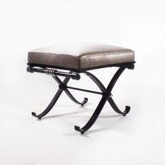 1950s Neo Classical French Enameled Iron X Footstool - 1036438