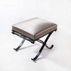 1950s Neo Classical French Enameled Iron X Footstool - 1036439