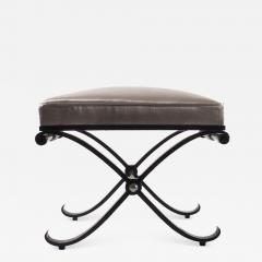 1950s Neo Classical French Enameled Iron X Footstool - 1036602